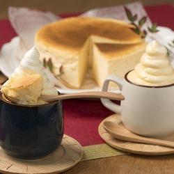 カスタードクリーム・生クリームとコラボしたチーズケーキ