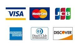 クレジットカード各種使えるようになりました!